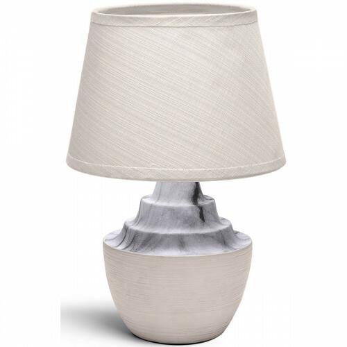 LED Tafellamp - Tafelverlichting - Aigi Fospa - E14 Fitting - Rond - Mat Bruin - Keramiek