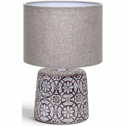 LED Tafellamp - Tafelverlichting - Aigi Herdon - E14 Fitting - Rond - Mat Bruin - Keramiek