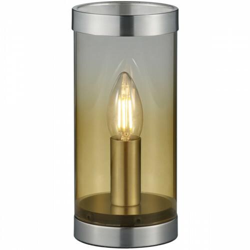 LED Tafellamp - Tafelverlichting - Trion Culo - E14 Fitting - Rond - Amber - Aluminium