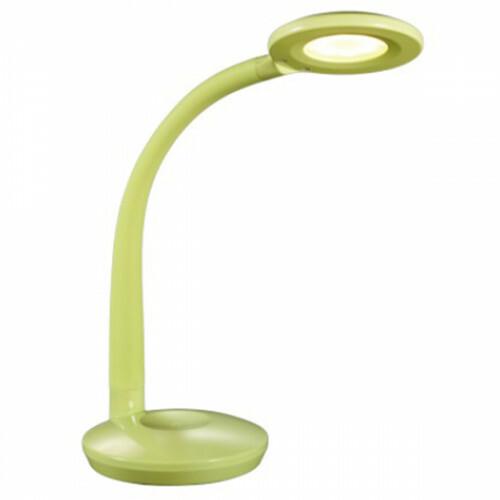 LED Tafellamp - Tafelverlichting - Trion Kori - 3W - Warm Wit 3000K - Rond - Mat Groen - Kunststof