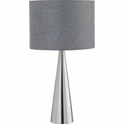 LED Tafellamp - Tafelverlichting - Trion Tinomi - E27 Fitting - Rond - Mat Nikkel - Aluminium