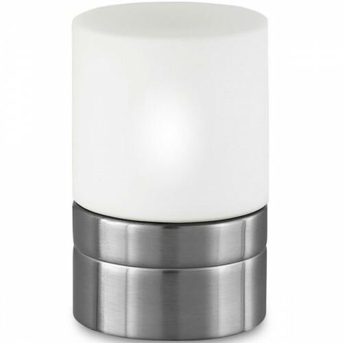 LED Tafellamp - Trion Ara - E14 Fitting - Dimbaar - Rond - Mat Nikkel - Aluminium