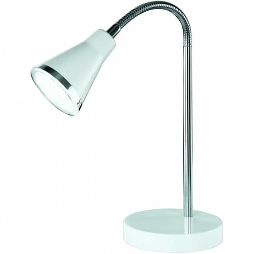 LED Tafellamp - Trion Arora - 3W - Warm Wit 3000K - Rond - Glans Wit - Kunststof