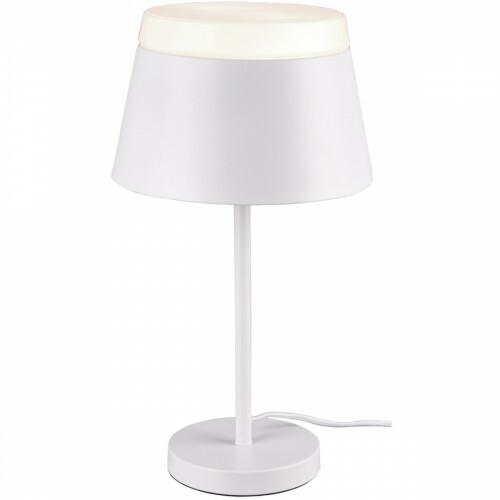 LED Tafellamp - Trion Barnaness - E14 Fitting - 2-lichts - Rond - Mat Wit - Aluminium
