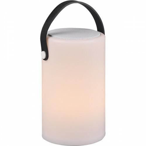 LED Tafellamp - Trion Berimany - Bluetooth Speaker - Dimbaar - Spatwaterdicht - Afstandsbediening - USB Oplaadbaar - RGBW - Wit