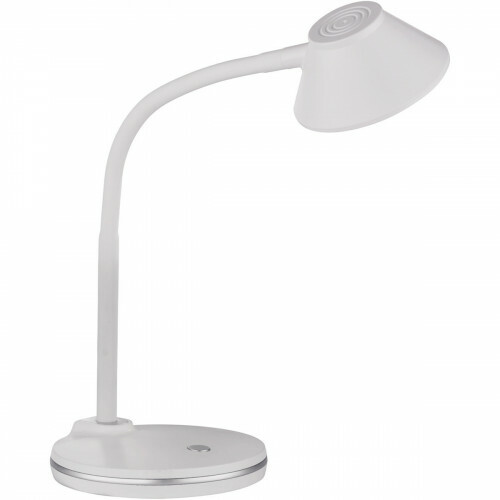 LED Tafellamp - Trion Berony - 3W - Warm Wit 3000K - Rond - Flexibele Arm - Mat Wit - Kunststof