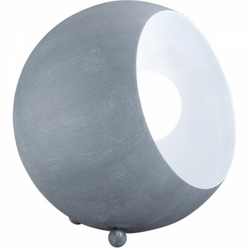 LED Tafellamp - Trion Blinky - E14 Fitting - Rond - Beton Look Grijs - Aluminium