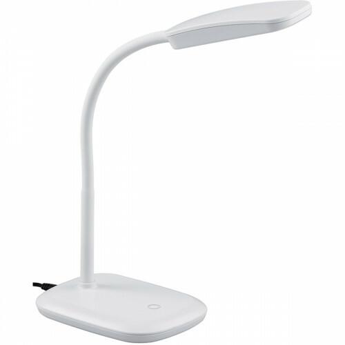LED Tafellamp - Trion Bolina - 3W - Warm Wit 3000K - Dimbaar - Rechthoek - Glans Wit - Kunststof