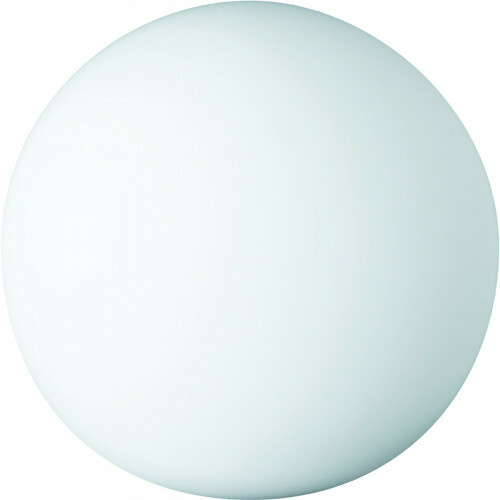 LED Tafellamp - Trion Boly - E27 Fitting - Rond - Glans Wit - Glas