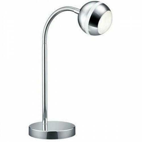 LED Tafellamp - Trion Bonaret - 3W - Warm Wit 3100K - Rond - Glans Chroom - Aluminium