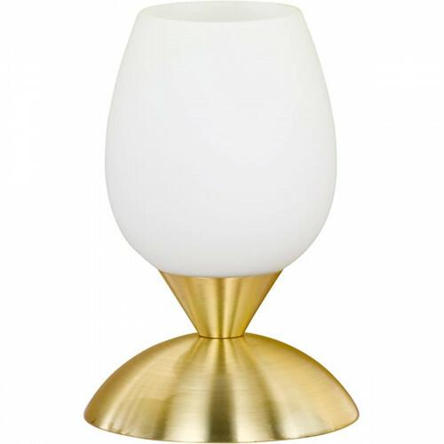 LED Tafellamp - Trion Capu - E14 Fitting - Dimbaar - Rond - Mat Goud - Aluminium