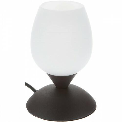 LED Tafellamp - Trion Capu - E14 Fitting - Dimbaar - Rond - Roestkleur - Aluminium