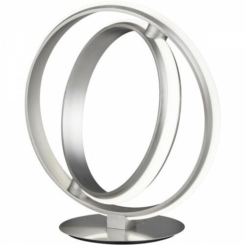 LED Tafellamp - Trion Compito - 19W - Warm Wit 3000K - Dimbaar - Rond - Mat Nikkel - Aluminium