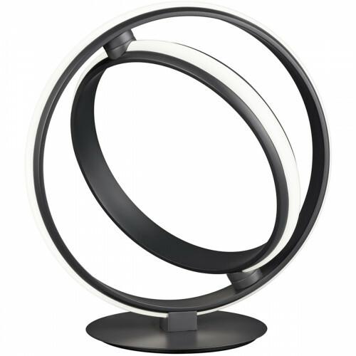LED Tafellamp - Trion Compito - 19W - Warm Wit 3000K - Dimbaar - Rond - Mat Zwart - Aluminium
