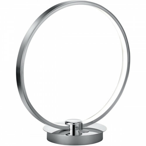 LED Tafellamp - Trion Danilo - 12W - Warm Wit 3000K - Dimbaar - Rond - Mat Chroom - Aluminium