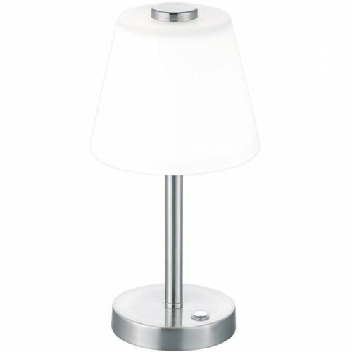 LED Tafellamp - Trion Emaro - 4W - Warm Wit 3000K - Dimbaar - Rond - Mat Nikkel - Aluminium
