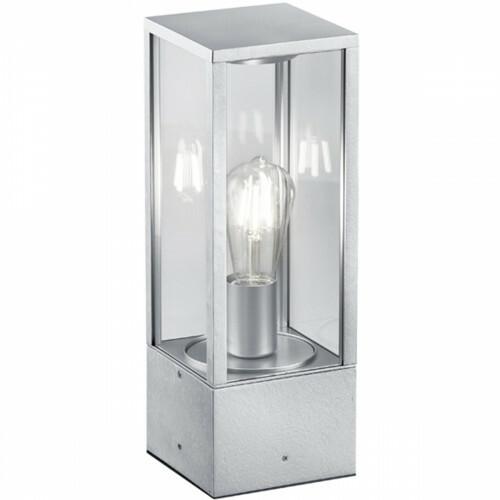 LED Tafellamp - Trion Garinola - E27 Fitting - Rechthoek - Mat Grijs - Aluminium