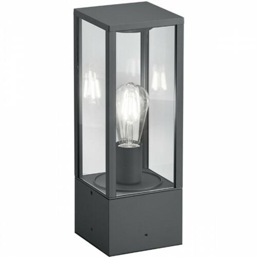 LED Tafellamp - Trion Garinola - E27 Fitting - Rechthoek - Mat Zwart - Aluminium