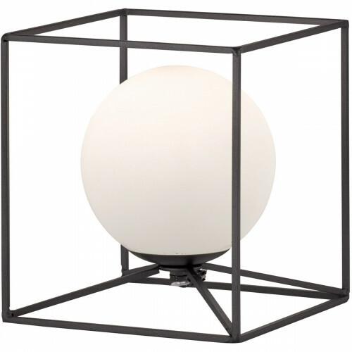 LED Tafellamp - Trion Gebia - E14 Fitting - Vierkant - Mat Zwart - Aluminium