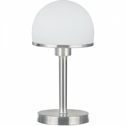 LED Tafellamp - Trion Josa - E27 Fitting - Dimbaar - Rond - Mat Nikkel - Aluminium