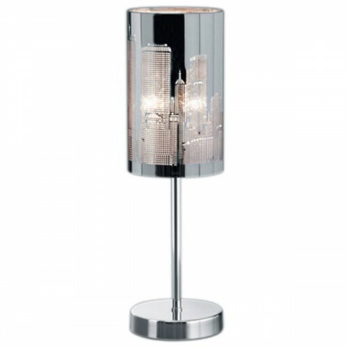 LED Tafellamp - Trion Kimo - E14 Fitting - Rond - Glans Chroom - Aluminium