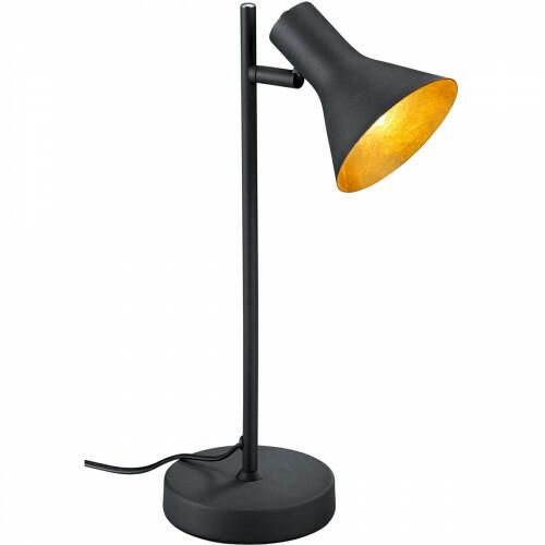 LED Tafellamp - Trion Nana - E14 Fitting - Rond - Mat Zwart - Aluminium