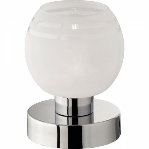 LED Tafellamp - Trion Oharino - G9 Fitting - Dimbaar - Rond - Glans Chroom - Aluminium
