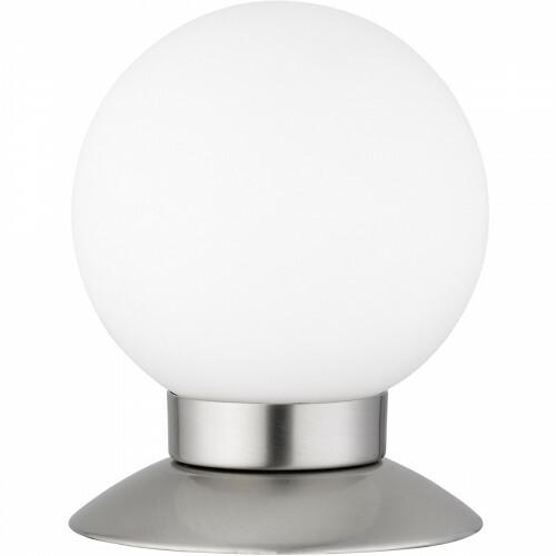 LED Tafellamp - Trion Princy - 3W - Warm Wit 3000K - Dimbaar - Rond - Mat Nikkel - Aluminium