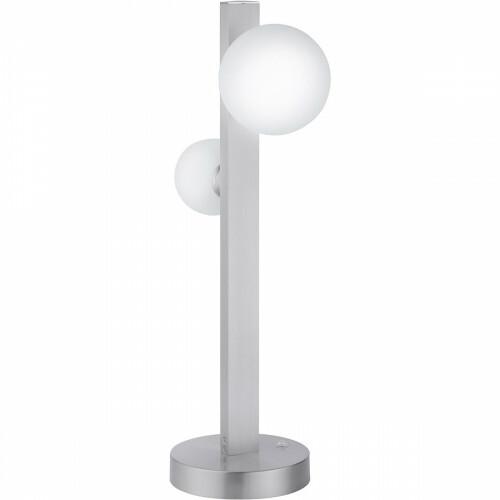 LED Tafellamp WiZ - Smart LED - Trion Dulpio - 6W - Aanpasbare Kleur - Dimbaar - Afstandsbediening - Rond - Mat Nikkel - Aluminium