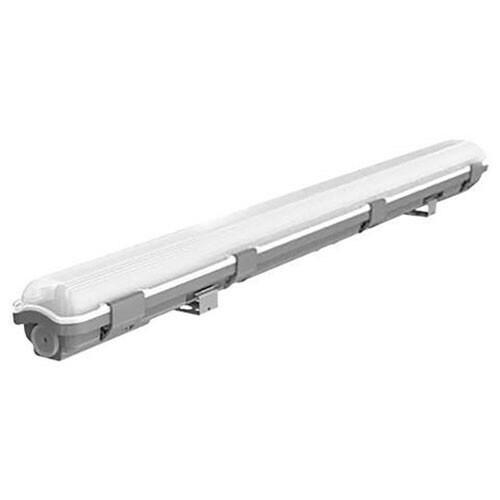 LED TL Armatuur T8 - 60cm - 9W - Waterdicht IP54 - Helder/Koud Wit 6400K - Kunststof