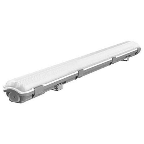 LED TL Armatuur T8 - 60cm - 2x 9W - Waterdicht IP54 - Helder/Koud Wit 6400K - Kunststof