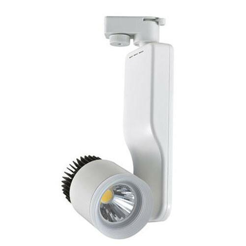 LED Railverlichting - Track Spot - 23W 1 Fase - Rond - Natuurlijk Wit 4200K - Mat Wit Aluminium