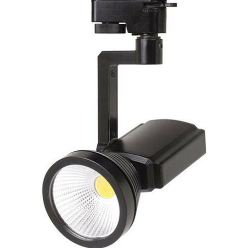 LED Railverlichting - Track Spot - 7W 1 Fase - Rond - Natuurlijk Wit 4200K - Mat Zwart Aluminium