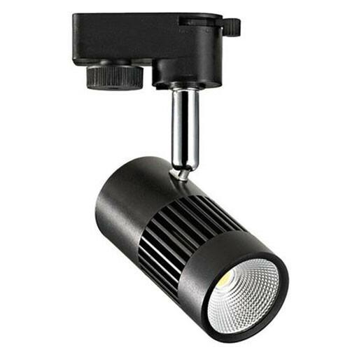 LED Railverlichting - 8W Rond - Natuurlijk Wit 4200K - Mat Zwart Aluminium