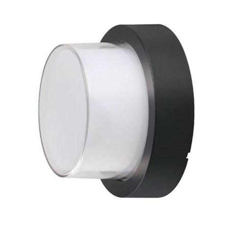 LED Tuinverlichting - Buitenlamp - Agusa 2 - Wand - Kunststof Mat Zwart - 12W Natuurlijk Wit 4200K - Rond