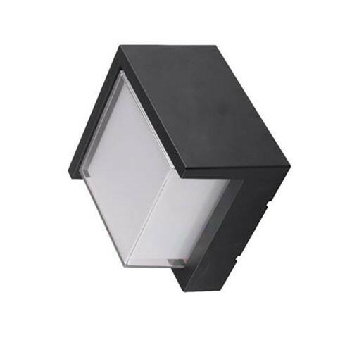 LED Tuinverlichting - Buitenlamp - Agusa 3 - Wand - Kunststof Mat Zwart - 12W Natuurlijk Wit 4200K - Vierkant