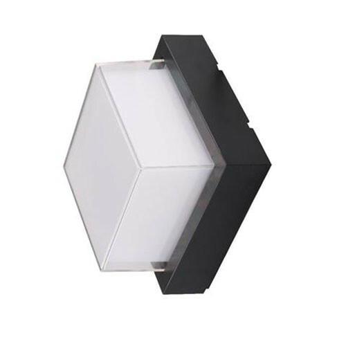 LED Tuinverlichting - Buitenlamp - Agusa 4 - Wand - Kunststof Mat Zwart - 12W Natuurlijk Wit 4200K - Vierkant