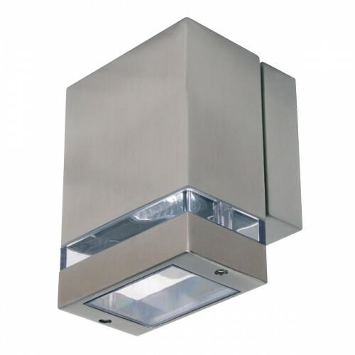 LED Tuinverlichting - Buitenlamp - Gardy 1 - Wand - RVS Mat Chroom - GU10 - Vierkant