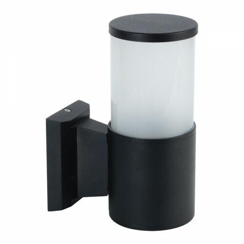 LED Tuinverlichting - Buitenlamp - Kavy 2 - Wand - Aluminium Mat Zwart - E27 - Rond