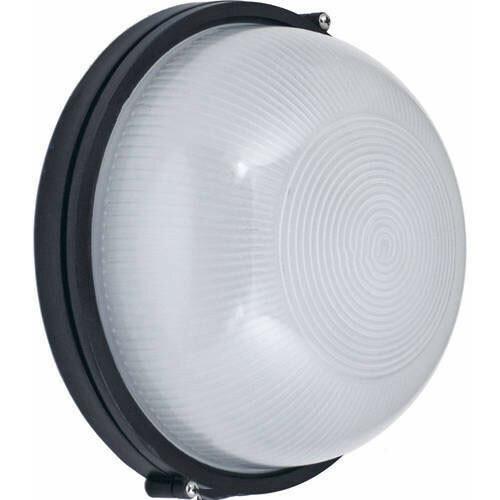 LED Tuinverlichting - Buitenlamp - Lagoon - Wand - Aluminium Mat Zwart - E27 - Rond