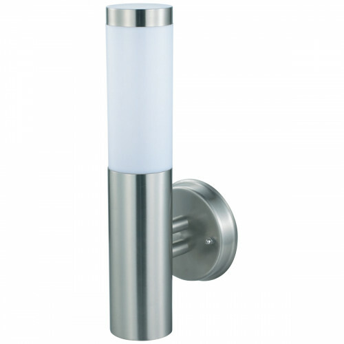 LED Tuinverlichting - Buitenlamp - Laurea 2 - Wand - RVS - E27 - Rond