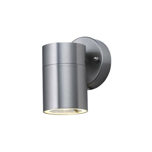 LED Tuinverlichting - Buitenlamp - Magnolia 1 - Wand - RVS Mat Chroom - GU10 - Rond