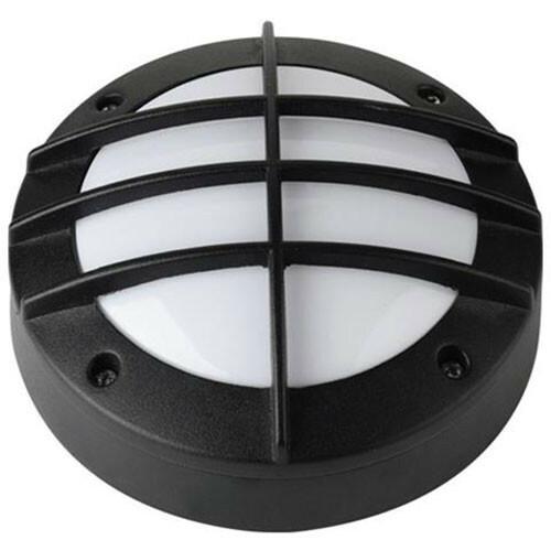 LED Tuinverlichting - Buitenlamp - Maran - Wand - Aluminium Mat Zwart - 6W Natuurlijk Wit 4000K - Rond