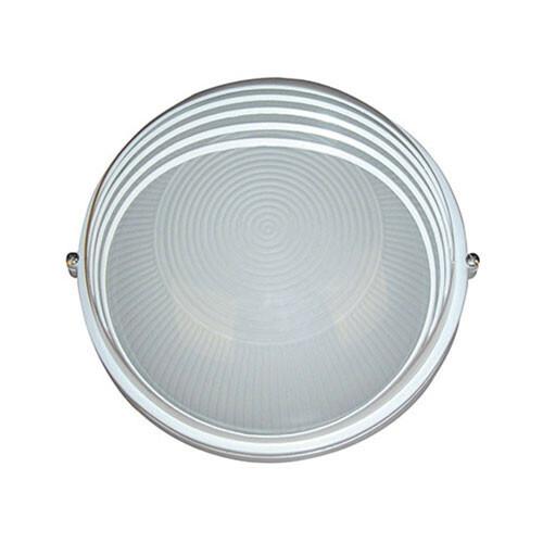 LED Tuinverlichting - Buitenlamp - Ridge - Wand - Aluminium Mat Wit - E27 - Rond