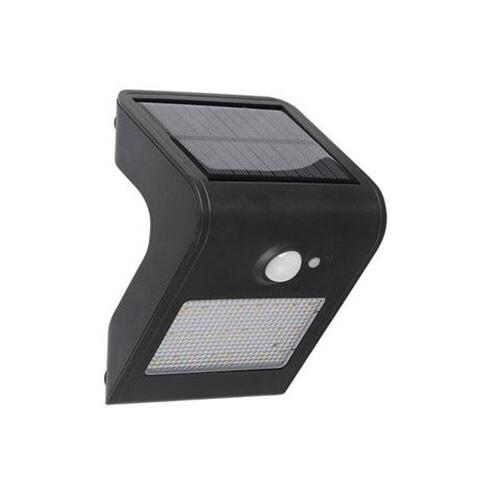 LED Tuinverlichting - Buitenlamp - Sira 1 - Zonne-energie - Bewegingssensor - 1W - Zwart