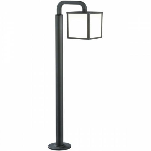 LED Tuinverlichting - Buitenlamp - Trion Cubirino - Staand - 5W - E27 Fitting - Mat Zwart - Aluminium