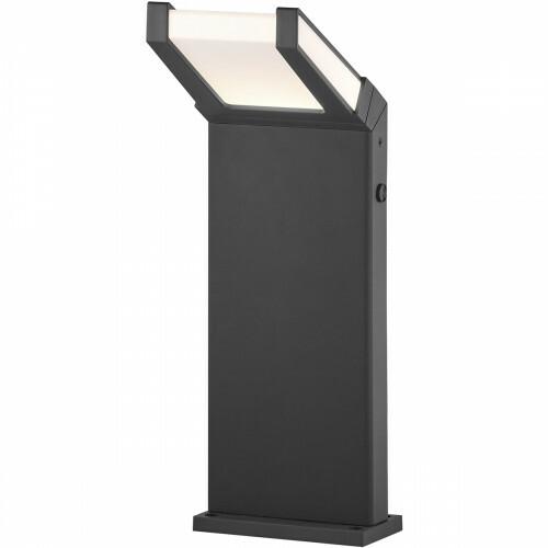 LED Tuinverlichting - Buitenlamp - Trion Gamby - Staand - Lichtsensor - 10W - Mat Zwart - Aluminium
