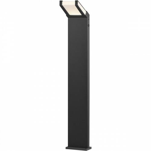 LED Tuinverlichting - Buitenlamp - Trion Gamby XL - Staand - Lichtsensor - 10W - Mat Zwart - Aluminium