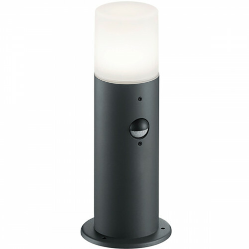 LED Tuinverlichting - Buitenlamp - Trion Hosina - Staand - Bewegingssensor - E27 Fitting - Mat Zwart - Aluminium