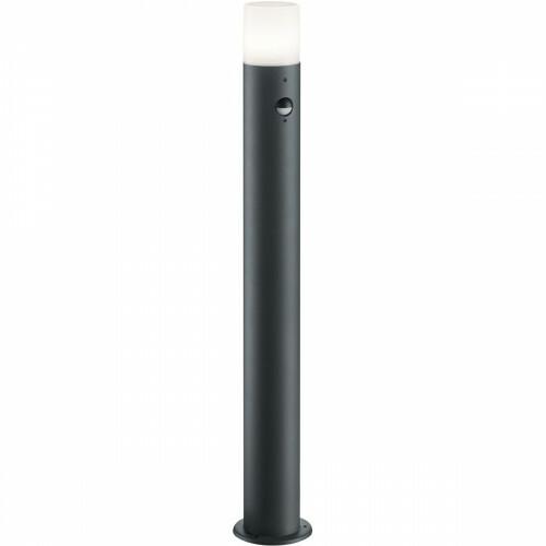 LED Tuinverlichting - Buitenlamp - Trion Hosina XL - Staand - Bewegingssensor - E27 Fitting - Mat Zwart - Aluminium